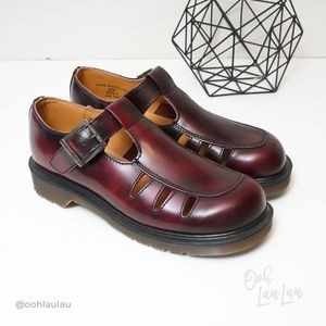 Dr Martens Cherry Red Mary Janes Like New